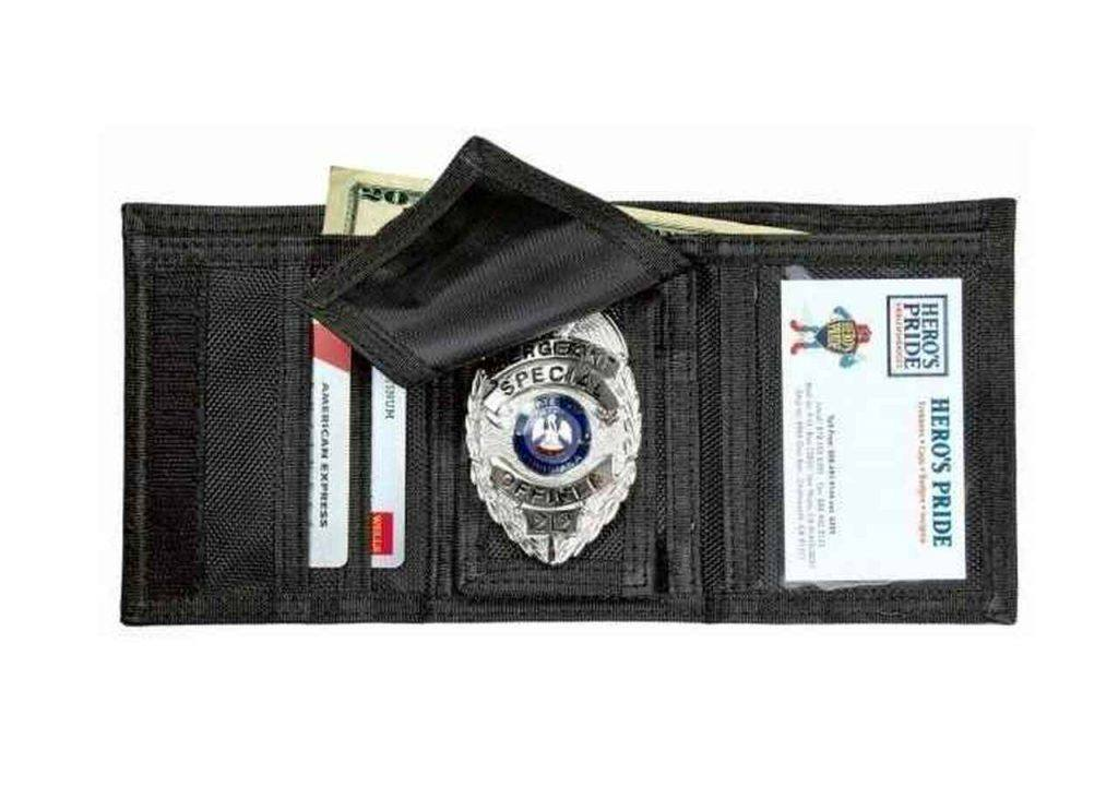 heros pride tri fold ballistic badge wallet with id window and credit card slots