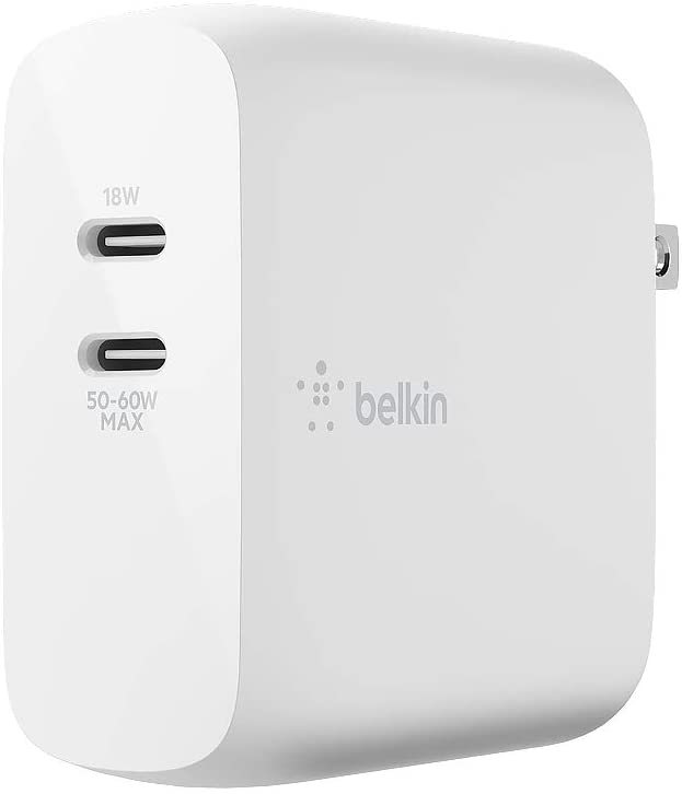 Belkin BOOST↑CHARGE™ Dual USB-C PD GaN Wall Charger 68W | Image Credit: Amazon com